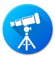 telescope blue circle icon design vector image