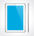 Touchscreen tablet concept vector image