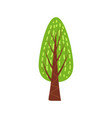 Tree forest green color stylized cute style