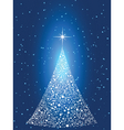 tree of stars vector image vector image