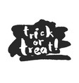 trick or treat with ink scribble vector image vector image