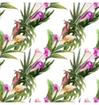 Tropical watercolor seamless pattern vector image vector image