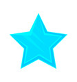 turquoise cartoon glossy star vector image