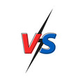 versus vs letters fight versus text brush vector image