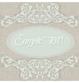 Vintage Classic Invitation card vector image vector image