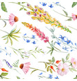 watercolor floral summer pattern vector image vector image