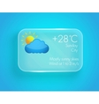 Weather widget vector image