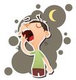 yawning man vector image