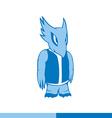Alien monster humanoid creature Standing intruder vector image