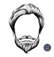 Bearded man icon vector image
