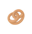 traditional german salty pretzel flat cartoon vector image