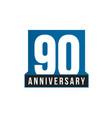 90th anniversary icon birthday logo vector image vector image