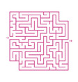 a colored abstract square maze with an entrance vector image vector image