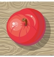 Apple on Wooden Background vector image