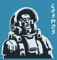 astronaut science fiction character vector image vector image