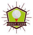 ball golf club sport competition label vector image