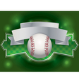 baseball label vector image vector image