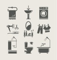 bathroom equipment set icon vector image vector image