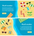 Beach Vacation Flat Design Web Banners vector image vector image