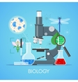 Biology science education concept poster in vector image vector image