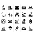 Black Electricity and Energy source icons vector image vector image