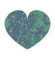 blue and green heart vector image