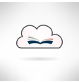Book icon made in modern flat design Cloud library vector image vector image