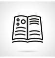 Book of astronomy simple line icon vector image
