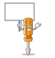 Bring board screwdriver character cartoon style vector image
