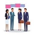 business teamwork meeting vector image