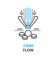 cash flow concept outline icon linear sign vector image vector image