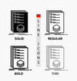 categories check list listing mark icon in thin vector image vector image