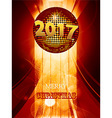 Christmas 2017 glowing background with disco ball vector image vector image