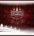 christmas pattern with a silhouette of christmas vector image vector image