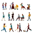 City People Set vector image
