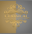 classic luxurious letter c logo with embossed vector image vector image