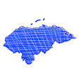 colored honduras map vector image vector image