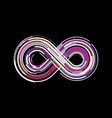 colorful abstract infinity endless symbol vector image vector image