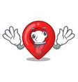 Crazy map marker navigation pin mascot cartoon