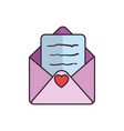 cute love envelope vector image vector image