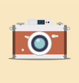 detailed old vintage camera isolated over vector image