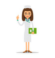 doctor woman cartoon female doctor holding in vector image vector image