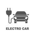 electro car icon logo element vector image vector image