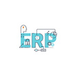 Enterprise resource planning vector image vector image