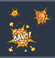 explosion animation in cartoon style vector image