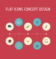 flat icons karaoke harmonica tambourine and vector image vector image