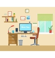 flat of modern office vector image vector image