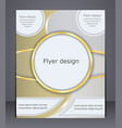 flyer design in soft shades of yellow vector image vector image