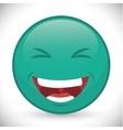 Funny cartoon face vector image vector image