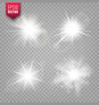 glowing lights set on transparent background lens vector image